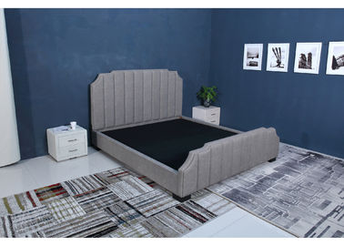 High Velvet Fabric Bed, Gray Crushed Velvet Bed Prosta konstrukcja