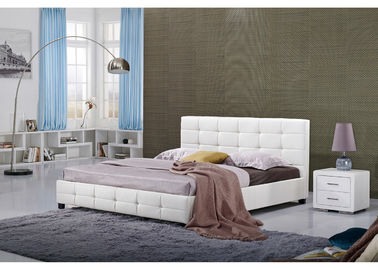 Chiny White Full Size Platforma hotelowa Bed / Firm Modern Twin Platform Bed fabryka
